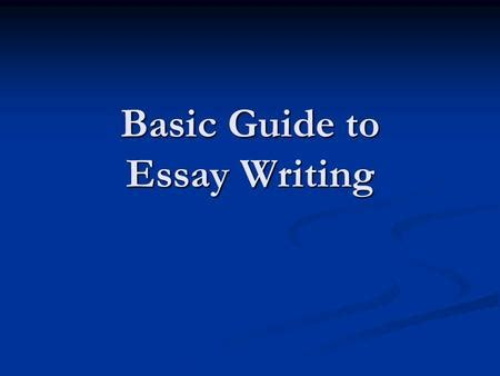 How to write arguing a position essay